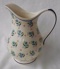 eu0736: Unikat Krug aus Bunzlauer Keramik für 1,0 Liter; Milchkrug; Saftkrug