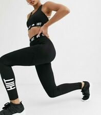 Hiit Black Leggings With Branded Waist In Black S 8 10 training gym fit sold out