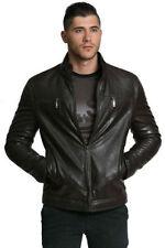 Men's Faux Leather Zip Neck Biker Coats & Jackets