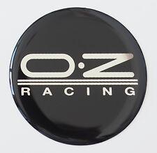 "Set of 4 OZ RACING WHEEL CENTER  CAP STICKER DECAL EMBLEM 64mm 2.52"" Black JDM"
