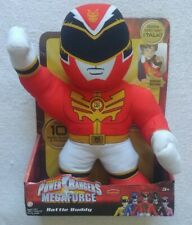 "MEGAFORCE POWER RANGERS ELECTRONIC TALKING BATTLE BUDDY PLUSH MMPR 14"" 2013 HTF"
