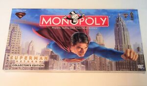 MONOPOLY SUPERMAN RETURNS COLLECTOR'S EDITION BRAND NEW STILL SEALED SEE PICS !!