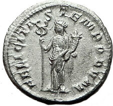 GORDIAN III 238AD Authentic Genuine Ancient Silver Roman Coin Felicitas  i59115