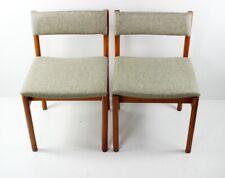 Pair of Retro Danish Style Teak Dining Chairs [5419]