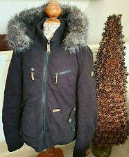 Khujo Ladies Womens Jacket Black Small Winter Hooded