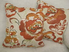 "BRUNSWICK FLORAL BY JOHN LEWIS 1 PAIR OF 18"" CUSHION COVERS - DOUBLE SIDED"