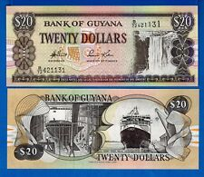 Guyana P-30 Twenty Dollar Waterfall Uncirculated Banknote South America