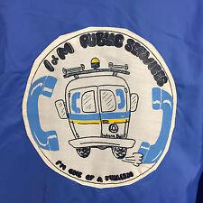 Vintage 70s Indiana Bell Telephone Uniform Work Coat Jacket Windbreaker Running