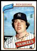 1980 Topps Rich Goose Gossage #140