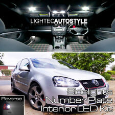 VW Golf MK5 18/pcs Full LED Luz Interior Kit Set BLANCO PURO CANBUS LIBRE DE ERRORES