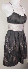 Trixxi Spaghetti Strap Black And Silver Sequins Dress. Juniors Size 3. NWT N21
