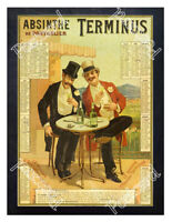 Historic Absinthe Terminus 1890s Advertising Postcard