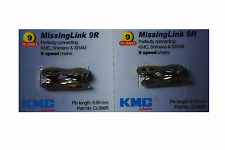 New Genuine 2 Sets KMC Missing Link 9 Speed CL566R For KMC Shimano & Sram Gold
