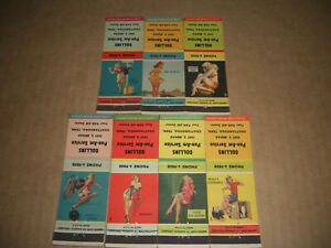 Pin-Up 1949 Collins PAN-AM  Service Matchbook Covers Set of 7