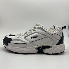 Fila Sport Decimus White Black Leather Running Training Shoes Men's, Size 8.5 W