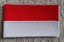 INDONESIA FLAG PATCH Embroidered Badge Iron or Sew on 4.5cm x 6cm Sumatra Java