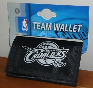NBA Basketball Cleveland Cavaliers Black Nylon Trifold Foil Print Wallet
