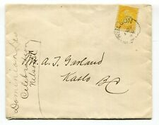 Canada BC British Columbia - Nelson 1895 - Small Queen to KASLO - Squared Circle