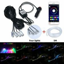 12V 5M Car Interior Neon Lamp Strip Optical Fiber Atmosphere Light DIY Decor