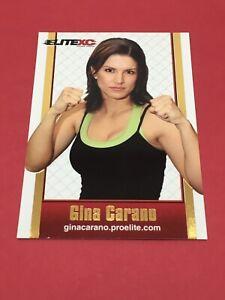 ULTRA RARE GINA CARANO ROOKIE ELITE XC PROMO CARD PRE UFC TOPPS ROUND 1