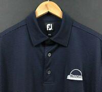FOOTJOY FJ Men's Navy Blue Dot Short Sleeve Polo Shirt Timacuan Golf sz L Large