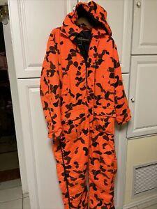 10x Camo Orange Leopard Full Suit Jumpsuit Hunting Hunt Gear Large Regular Warm