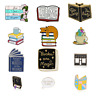 Book Enamel Brooches Pins Badges Pin Jewelry Brooch Witch Reading Fashion Lapel