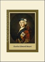 Charles Edward Stuart Jacobite Rebellion Scotland  New Print Mounted & Sealed
