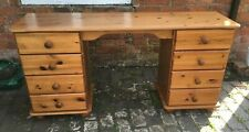 Lovely Pine Kneehole Dressing Table with Drawers