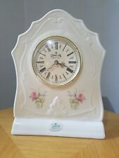 Vtg Collectable Donegal Parian China Hand Crafted in Ireland Mystical Rose Clock