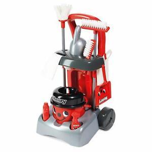 Pre School Kids Hetty Deluxe Cleaning Trolley Vacuum Cleaner Hoover Set New Red