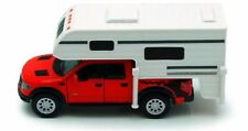 Set of 4 Cars: 2013 Ford F-150 SVT Raptor SuperCrew Camper Truck Blue Red Bl WH