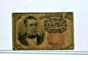 """10 CENT """"FRACTIONAL CURRENCY"""" 1800'S (WILLIAM MERIDETH) 10 CENT """"FRACTIONAL"""