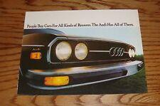 Original 1975 Audi 100LS Sales Brochure 75