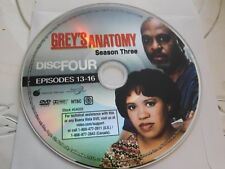Greys Anatomy Third Season 3 Disc 4 Replacement DVD Disc Only 57-261