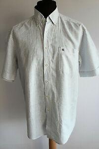 Casa Moda Hemd Leinenhemd Gr.L weiß-grau gestreift