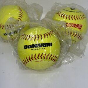 "Lot Of 3 New DeMarini 11"" Lightning Slowpitch Softballs - WTALS11YA"