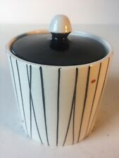 Mid Century. Crown Devon Pottery. Kirkham Wyncraft Preserve Pot. Black & White