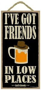 Garth Brooks  I've got friends in low places Beer Bar Man Cave 10x5 New Sign 925