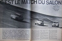 ARTICLE DE PRESSE 1961 SALON RENAULT 4 CONTRE SIMCA 1000 CONTRE CITROEN AMI 6