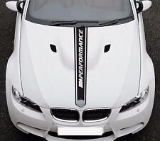For BMW 3 E92 M Performance Sport Hood Stripe VINYL STICKER JDM DECAL Graphic