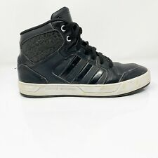 Adidas Womens Neo Raleigh F76268 Black Running Shoes Lace Up Mid Top Size 7.5