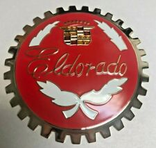 New Vintage Cadillac ElDorado Car Grille Badge- Chromed Brass- Great gift item!
