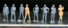 1:64 Scale Miniature People - Resin / unpainted - great for Dioramas #22 Figures