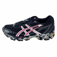 Asics  Womens Gel Enhance Ultra 2.0 T27BQ Black Running Shoes Lace Up Size 6