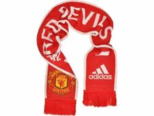 Manchester United RED DEVILS Brand New Official Adidas Red & White Scarf
