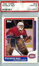 1986/87 Topps Hockey #53 Patrick Roy RC PSA 9 (Mint) *0657