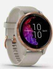 Garmin Venu Smartwatch GPS Silicone Band Light Ssand & Rose Gold