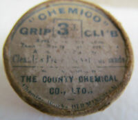VINTAGE CHEMICO GRIP WAX IN THE ORIGINAL CONTAINER CIRCA 1920'S OR 1930'S