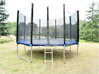 12/10/6FT Kids Trampoline w/Enclosure Net Jumping Mat&Spring Cover Padding Yard
